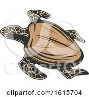 Clipart Of A Sea Turtle Royalty Free Vector Illustration