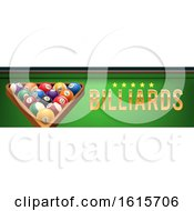 Clipart Of A Billiards Website Banner Royalty Free Vector Illustration