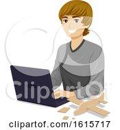 Poster, Art Print Of Teen Boy Aerospace Engineer Illustration