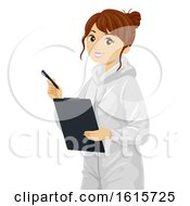 Teen Girl Forensic Science Illustration