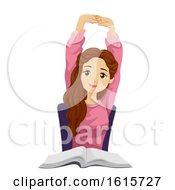 Poster, Art Print Of Teen Girl Stretching Illustration