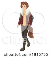 Teen Boy Wolf Illustration
