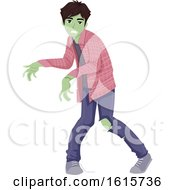 Teen Boy Zombie Illustration