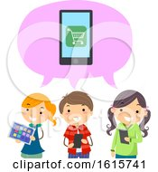 Stickman Kids Mobile Apps Buy Online Illustration