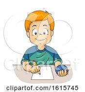 Kid Boy Class Fidget Toy Illustration
