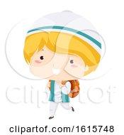 Kid Boy Muslim School Illustration