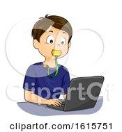 Kid Boy Sensory Chew Toy Fidget Illustration