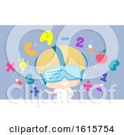Kid Boy Virtual Learning Illustration