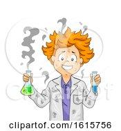 Kid Boy Fail Experiment Illustration
