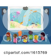 Stickman Kids Big Screen Underwater Illustration