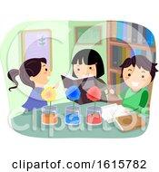 Poster, Art Print Of Stickman Kids Plant Absorb Color Illustration