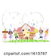 Stickman Kids School Mascot Birthday Party