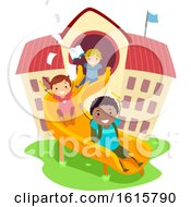 Stickman Kids School Play Study Illustration