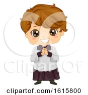 Kid Boy Altar Server Illustration