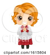 Kid Girl Altar Server Illustration