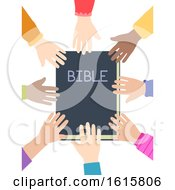 Kids Hands Bible Illustration