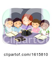 Stickman Kids Bible Study Teacher Illustration
