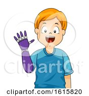 Kid Boy Prosthetic Arm Illustration