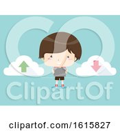 Kid Boy Tablet Upload Download Illustration