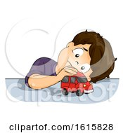 Kid Boy Watch Car Wheel Illustration