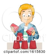 Kid Boy Cups Game Workshop Illustration by BNP Design Studio
