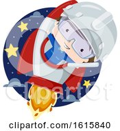 Poster, Art Print Of Kid Boy Aerospace Engineer Illustration