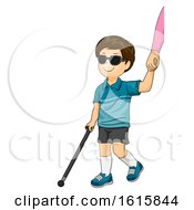 Kid Boy Blind Mom Hand Help Illustration by BNP Design Studio