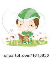 Kid Boy Elf Woodland Read Book Illustration
