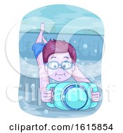 Kid Boy Swim Propeller Illustration