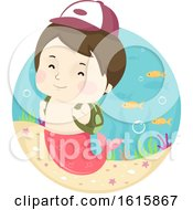 Kid Boy Mermaid School Boy Illustration