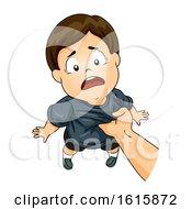 Kid Boy Abuse Illustration