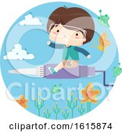 Kid Boy Circuit Explore Solder Illustration
