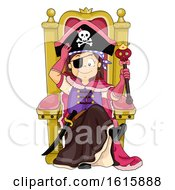 Kid Girl Pirate Princess Illustration