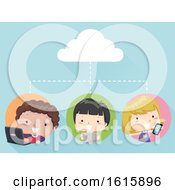 Kids Cloud Connection Gadgets Illustration by BNP Design Studio