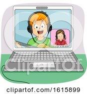 Kids Online Duet Laptop Illustration