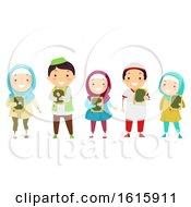 Poster, Art Print Of Stickman Kids Muslim Quran Illustration