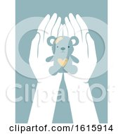 Poster, Art Print Of Hands Helping Children Abused Illustration