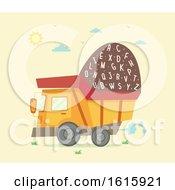 Dump Truck Letters Illustration