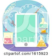 Poster, Art Print Of Mobile Apps Experiment Illustration