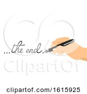 Hand Fountain Pen Creative Writing Illustration
