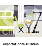 Poster, Art Print Of Letters Bedroom Illustration