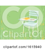 Poster, Art Print Of School Armchair Outside Pencil Paper Illustration