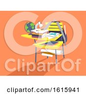 Poster, Art Print Of School Arm Chair Overload Illustration