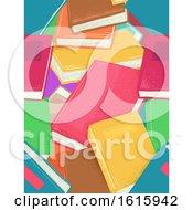 Poster, Art Print Of Books Seamless Background Illustration