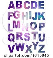 Poster, Art Print Of Alphabet Space Theme Illustration