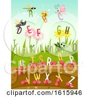 Poster, Art Print Of Bugs Insects Alphabet Illustration