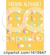 French Alphabet Illustration