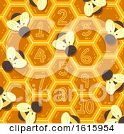 Poster, Art Print Of Spring Bee Hive Numbers Illustration