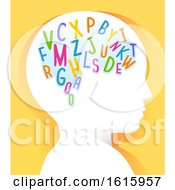 Kid Head Learn Alphabet Illustration