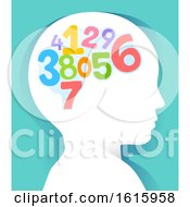 Kid Head Learn Numbers Illustration